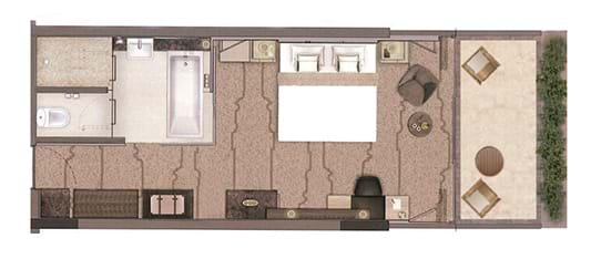 Beach Studio Upper Floor Plan