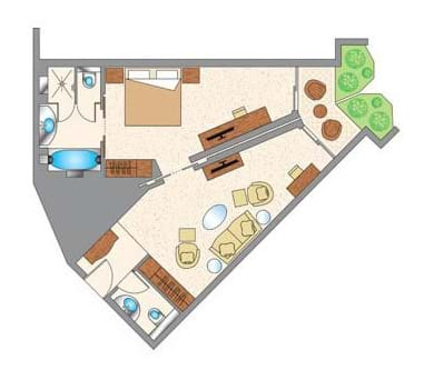 Junior Family Suite Floor Plan